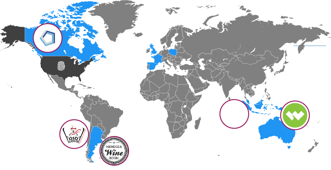 Map of where are website clients are located