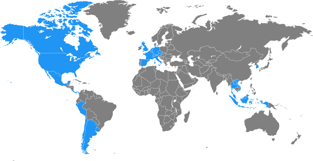 Map of What Countries I've Traveled to